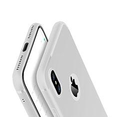 Coque Ultra Fine Silicone Souple Housse Etui V01 pour Apple iPhone Xs Blanc