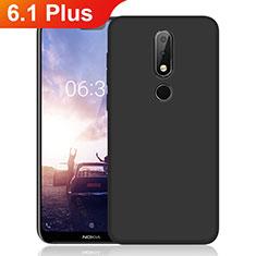 Coque Ultra Fine Silicone Souple pour Nokia 6.1 Plus Noir