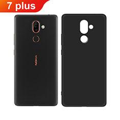 Coque Ultra Fine Silicone Souple pour Nokia 7 Plus Noir