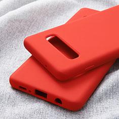 Coque Ultra Fine Silicone Souple pour Samsung Galaxy S10 Plus Rouge