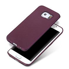 Coque Ultra Fine Silicone Souple pour Samsung Galaxy S6 Edge+ Plus SM-G928F Violet