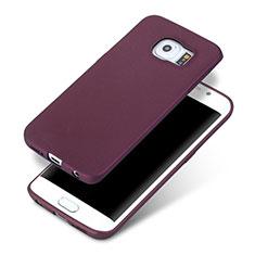 Coque Ultra Fine Silicone Souple pour Samsung Galaxy S6 Edge SM-G925 Violet