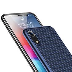 Coque Ultra Fine Silicone Souple S02 pour Apple iPhone XR Bleu