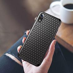 Coque Ultra Fine Silicone Souple S02 pour Apple iPhone XR Noir