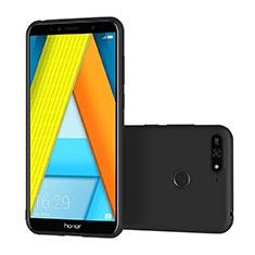 Coque Ultra Fine Silicone Souple S02 pour Huawei Honor 7A Noir