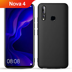 Coque Ultra Fine Silicone Souple S02 pour Huawei Nova 4 Noir