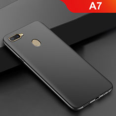 Coque Ultra Fine Silicone Souple S02 pour Oppo A7 Noir