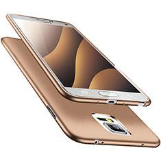 Coque Ultra Fine Silicone Souple S02 pour Samsung Galaxy Note 4 SM-N910F Or