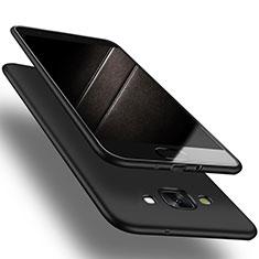 Coque Ultra Fine Silicone Souple S03 pour Samsung Galaxy A7 Duos SM-A700F A700FD Noir