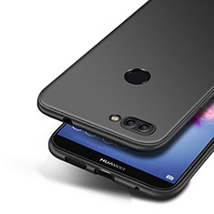 Coque Ultra Fine Silicone Souple S04 pour Huawei Enjoy 7S Noir