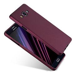 Coque Ultra Fine Silicone Souple S04 pour Samsung Galaxy A7 Duos SM-A700F A700FD Violet