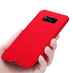 Coque Ultra Fine Silicone Souple S06 pour Samsung Galaxy S8 Rouge