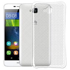 Coque Ultra Fine Silicone Souple Transparente Dot pour Huawei Y6 Pro Clair