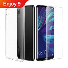 Coque Ultra Fine Silicone Souple Transparente et Protecteur d'Ecran pour Huawei Enjoy 9 Clair