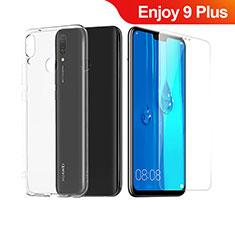 Coque Ultra Fine Silicone Souple Transparente et Protecteur d'Ecran pour Huawei Enjoy 9 Plus Clair