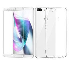 Coque Ultra Fine Silicone Souple Transparente et Protecteur d'Ecran pour Huawei Honor 9 Lite Blanc