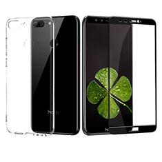 Coque Ultra Fine Silicone Souple Transparente et Protecteur d'Ecran pour Huawei Honor 9 Lite Noir