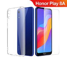 Coque Ultra Fine Silicone Souple Transparente et Protecteur d'Ecran pour Huawei Honor Play 8A Clair