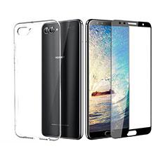 Coque Ultra Fine Silicone Souple Transparente et Protecteur d'Ecran pour Huawei Nova 2S Noir