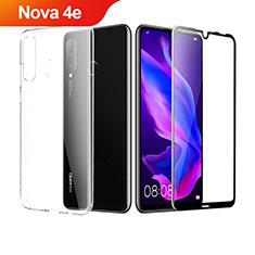 Coque Ultra Fine Silicone Souple Transparente et Protecteur d'Ecran pour Huawei Nova 4e Clair