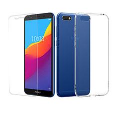 Coque Ultra Fine Silicone Souple Transparente et Protecteur d'Ecran pour Huawei Y5 Prime (2018) Clair