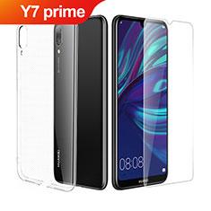 Coque Ultra Fine Silicone Souple Transparente et Protecteur d'Ecran pour Huawei Y7 Prime (2019) Clair