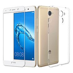Coque Ultra Fine Silicone Souple Transparente et Protecteur d'Ecran pour Huawei Y7 Prime Clair