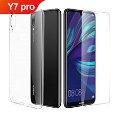 Coque Ultra Fine Silicone Souple Transparente et Protecteur d'Ecran pour Huawei Y7 Pro (2019) Clair