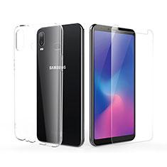 Coque Ultra Fine Silicone Souple Transparente et Protecteur d'Ecran pour Samsung Galaxy A6s Clair