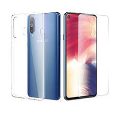 Coque Ultra Fine Silicone Souple Transparente et Protecteur d'Ecran pour Samsung Galaxy A8s SM-G8870 Clair