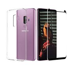Coque Ultra Fine Silicone Souple Transparente et Protecteur d'Ecran pour Samsung Galaxy S9 Plus Clair