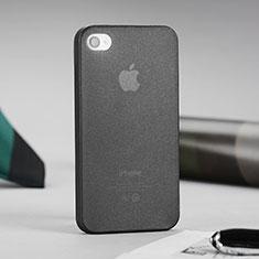 Coque Ultra Fine Silicone Souple Transparente Mat pour Apple iPhone 4S Gris