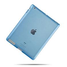 Coque Ultra Fine Silicone Souple Transparente pour Apple iPad 3 Bleu Ciel