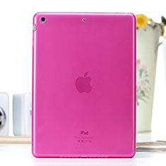 Coque Ultra Fine Silicone Souple Transparente pour Apple iPad Air Rose Rouge