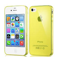 Coque Ultra Fine Silicone Souple Transparente pour Apple iPhone 4 Jaune
