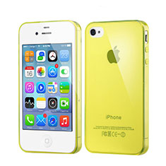Coque Ultra Fine Silicone Souple Transparente pour Apple iPhone 4S Jaune