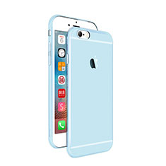 Coque Ultra Fine Silicone Souple Transparente pour Apple iPhone 6 Plus Bleu