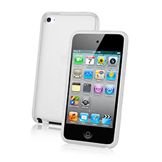 Coque Ultra Fine Silicone Souple Transparente pour Apple iPod Touch 4 Blanc