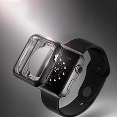 Coque Ultra Fine Silicone Souple Transparente pour Apple iWatch 3 38mm Noir
