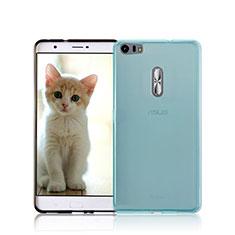Coque Ultra Fine Silicone Souple Transparente pour Asus Zenfone 3 Ultra ZU680KL Bleu