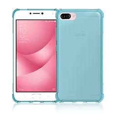 Coque Ultra Fine Silicone Souple Transparente pour Asus Zenfone 4 Max ZC554KL Bleu