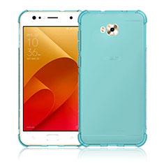 Coque Ultra Fine Silicone Souple Transparente pour Asus Zenfone 4 Selfie ZD553KL Bleu