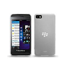 Coque Ultra Fine Silicone Souple Transparente pour Blackberry Z10 Blanc