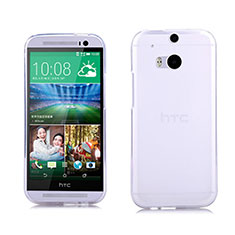 Coque Ultra Fine Silicone Souple Transparente pour HTC One M8 Blanc
