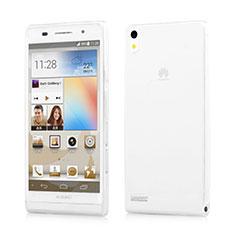 Coque Ultra Fine Silicone Souple Transparente pour Huawei Ascend P6 Blanc
