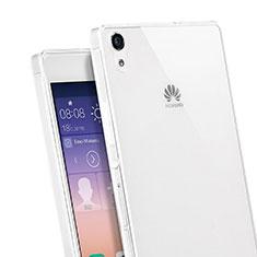 Coque Ultra Fine Silicone Souple Transparente pour Huawei Ascend P7 Blanc