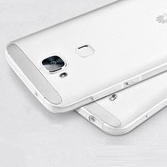 Coque Ultra Fine Silicone Souple Transparente pour Huawei G7 Plus Blanc