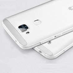 Coque Ultra Fine Silicone Souple Transparente pour Huawei G8 Blanc