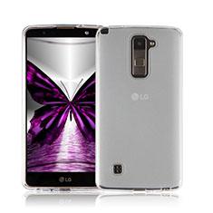Coque Ultra Fine Silicone Souple Transparente pour LG Stylus 2 Plus Blanc