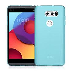 Coque Ultra Fine Silicone Souple Transparente pour LG V30 Bleu